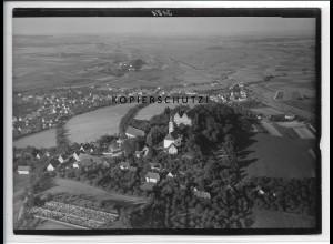 ZZ-4993/ Erbach Schloß Foto seltenes Luftbild 1935 18 x 13 cm