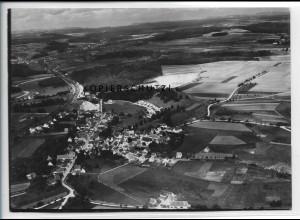 ZZ-5023/ Westerstetten Foto seltenes Luftbild ca.1938 18 x 13 cm