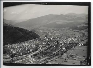 ZZ-4983/ Schopfheim Foto seltenes Luftbild ca.1935 18 x 13 cm