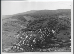 ZZ-4981/ Kirchlindsbergen b. Endingen Foto seltenes Luftbild ca.1935 18 x 13 cm