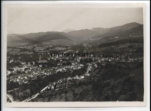 ZZ-501&/ Müllheim Foto seltenes Luftbild ca.1938 18 x 13 cm