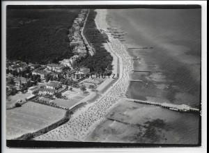 ZZ-5018/ Ostseebad Kühlungsborn Foto seltenes Luftbild 1939 18 x 13 cm