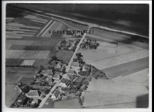 ZZ-4976/ Börgerende Rethwisch Foto seltenes Luftbild ca.1935 18 x 13 cm