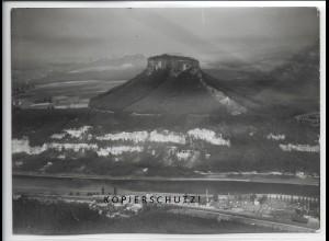 ZZ-5041/ Lilienstein bei Porschdorf Foto seltenes Luftbild 1938 18 x 13 cm