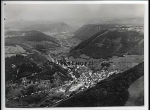 ZZ-5029/ Wiesensteig Foto seltenes Luftbild 1934 16,5 x 12 cm