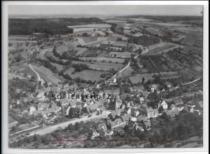 ZZ-5028/ Untergimpern Neckarbischofsheim Foto seltenes Luftbild 1934 18 x 13 cm