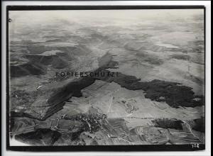 ZZ-5027/ Lenninger Tal b. Lenningen Foto seltenes Luftbild ca.1938 18 x 13 cm