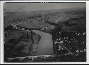 ZZ-4941/ Heilbronn Neckar-Korrektion Foto seltenes Luftbild ca.1936 18 x 13 cm