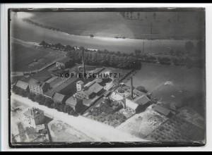 ZZ-4936/ Heilbronn Gaswerk Foto seltenes Luftbild 1935 18 x 13 cm