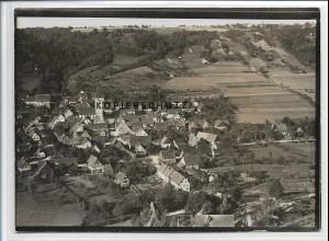 ZZ-4933/ Untermünkheim Foto seltenes Luftbild 1936 18 x 13 cm