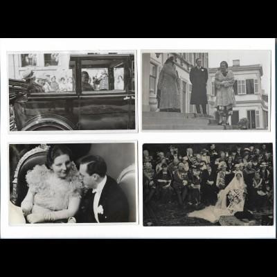 Y19012/ 4 x Foto AK Niederlande Königspaar ca. 1935-38