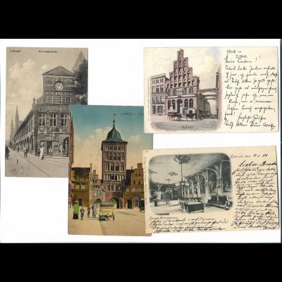 Y19009/ 3 x AK Lübeck 1899-1915