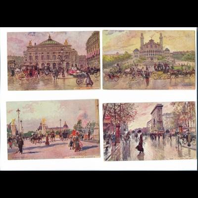 Y19008/ / 4 x AK Paris Frankreich ca.1912