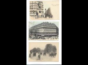 Y19007/ / 3 x AK Paris Frankreich 1905-10