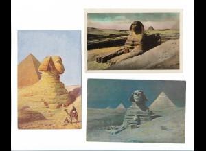 Y19006/ 3 x AK The Sphinx Ägypten ca.1920-30
