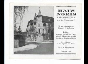 Y19047/ Bad Kissingen Haus Noris Tannstraße 3 Faltblatt ca.1935