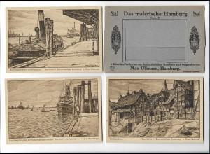 Y19044/ 6 x AK Das malerische Hamburg Serie II von Max Ullmann ca.1920