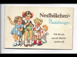 Y19041/ Alte Nesthäkchen`s Nadelmappe Kinbder mit Puppe