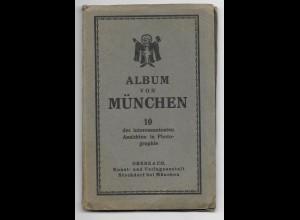 Y19037/ Leporello 10 x Foto AK von München 1929