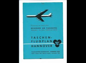 Y19029/ Taschenflugplan Flughafen Hannover Sommer 1968