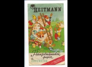 Y19026/ Heitmann Heinzelmännchen-Papier für Ostereier Original-Tüte 50/60er