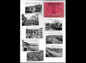 Y19689/ Trieste Mappe mit 20 Bilder 8,5 x 6 cm ca.1935 Italien
