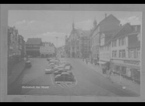 Neg5973/ Helmstedt Am Markt Autos altes Negativ 50/60er Jahre