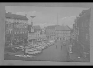 Neg5974/ Helmstedt Am Markt Autos altes Negativ 50/60er Jahre