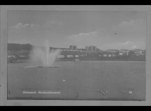 Neg6004/ Helmstedt Strohmühlenteich altes Negativ 50/60er Jahre