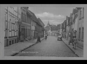 Neg6014/ Helmstedt Braunschweiger Straße VW Käfer altes Negativ 50er Jahre