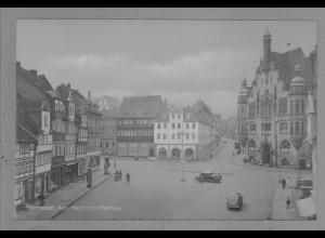 Neg6017/ Helmstedt Am Markt altes Negativ 40/50er Jahre