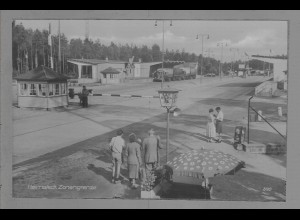 Neg6021/ Helmstedt Zonengrenze DDR Grenze altes Negativ 50er Jahre