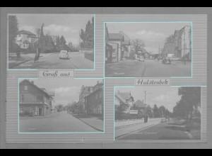Neg6048/ Halstenbek Hauptstr. Poststr. altes Negativ 50/60er Jahre
