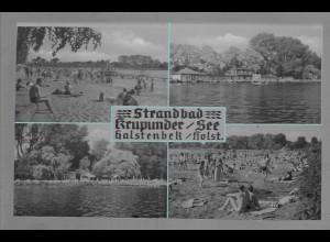 Neg6049/ Halstenbek Strandbad Krupunder See. altes Negativ 50/60er Jahre