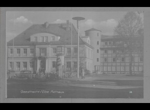 Neg6059/ Geesthacht Rathaus altes Negativ 50/60er Jahre