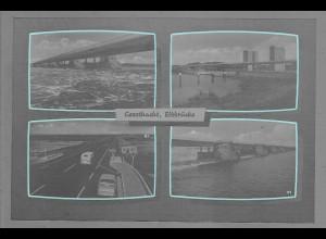 Neg6065/ Geesthacht Elbrücke altes Negativ 60er Jahre