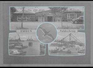 Neg6090/ Emden Polderkrug Hafen altes Negativ 50/60er Jahre