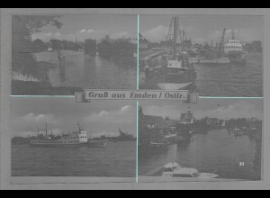 Neg6095/ Emden Hafen altes Negativ 60er Jahre