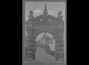 Neg6097/ Emden Hafentor altes Negativ 50er Jahre