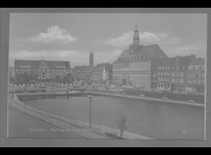 Neg6104/ Emden Rathaus altes Negativ 50/60er Jahre