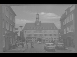 Neg6105/ Emden Rathaus Autos altes Negativ 60er Jahre