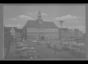 Neg6107/ Emden Rathaus Autos altes Negativ 60er Jahre