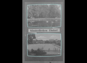 Neg6114/ Klosterflecken Ebstorf Kr. Uelzen Waldbad altes Negativ 50/60er Jahre
