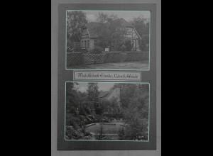 Neg6122/ Waldklinik Eimke Lüneburger Heide altes Negativ 50/60er Jahre