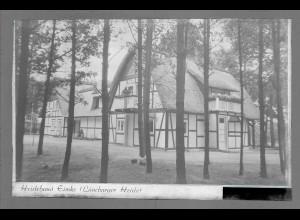 Neg6125/ Eimke Heidehaus Lüneburger Heide altes Negativ 50er Jahre