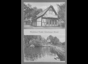 Neg6126/ Eimke Heidehaus Lüneburger Heide altes Negativ 50er Jahre