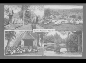 Neg6127/ Eimke Kirche Schafstall Lüneburger Heide altes Negativ 50er Jahre