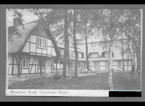 Neg6128/ Eimke Heidehaus Lüneburger Heide altes Negativ 50er Jahre