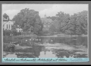Neg6143/ Reinbek Mühlenteich mit Schloß altes Negativ 40/50er Jahre