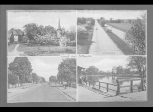 Neg6146/ Sittensen Bahnhofstr., Autobahn altes Negativ 50er Jahre